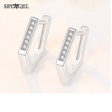 Simple Earrings Girls Cubic-Zirconia Women Fashion for Polygon Top-Quality Exquisite