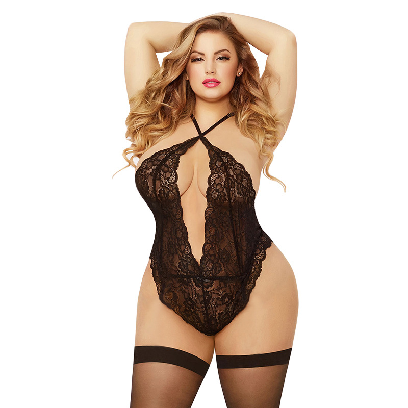 Womens Nightgown Sleepwear Plus 3XXL Sexy Lingerie See Though Night Dress Honeymoon Backless Lace Porno Ropa Sexy Para El Sexo