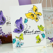Naifumodo Various Butterflies Metal Cutting Dies Scrapbooking Clear Stamps and Die Cuts For Making Card New 2019 Embossing Craft