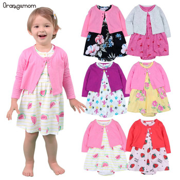 Brand summer 2020  new infant girls baby clothing cotton 9 colour Baby Girl Clothes Set newborn baby dress sets 12 Month Clothes summer new baby born girl s 3pc sets skirt suit bodysuits purple skirts newborn clothing set smart princesses clothes
