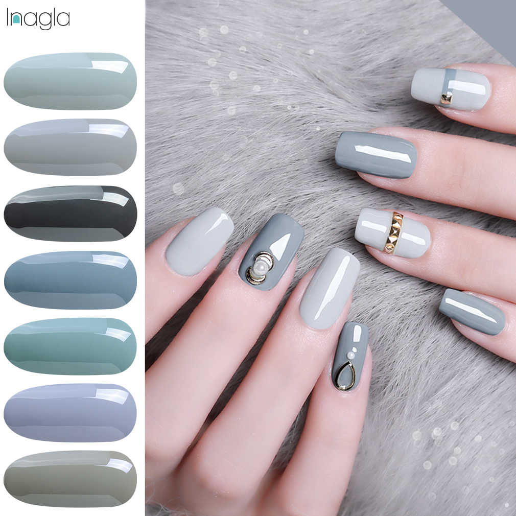 Inagla 5ML Nails Art Grey Series UV Gel Varnish For Stamping Nail Polish Soak Off Gel Nail Polish Vernis Semi Permanent Gellak