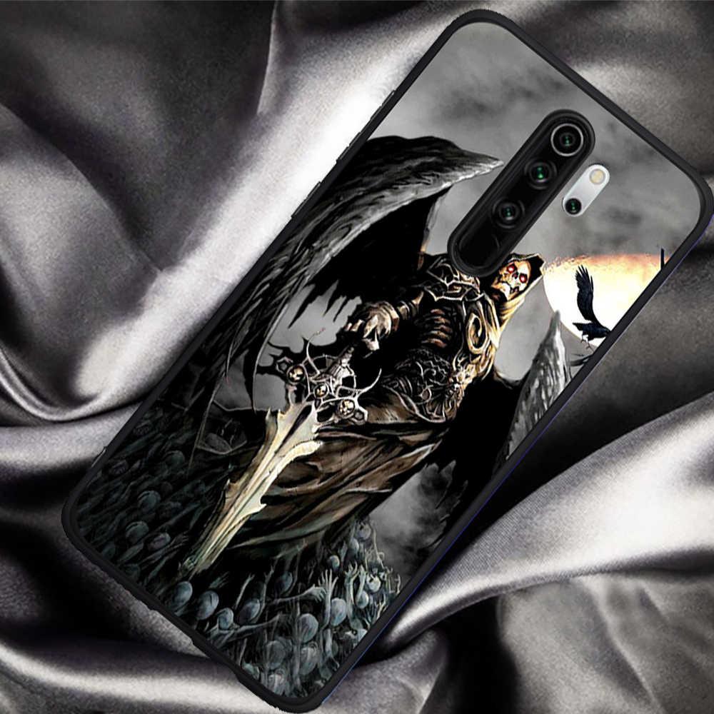 Grim Reaper Skull Scheletro di Lusso Ibrida del telefono per il caso di Xiaomi Mi 9T Redmi Nota 5 6 7 8 K20 9T Pro molle del silicone della copertura di tpu etui