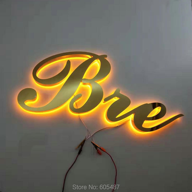 Outdoor custom led sign letters stainless steel 3D LED signage title=