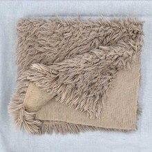 Одеяло из искусственного меха для новорожденных; детское одеяло для фотосессии; супер мягкие Аксессуары для фотосессии для новорожденных; 50*50 см
