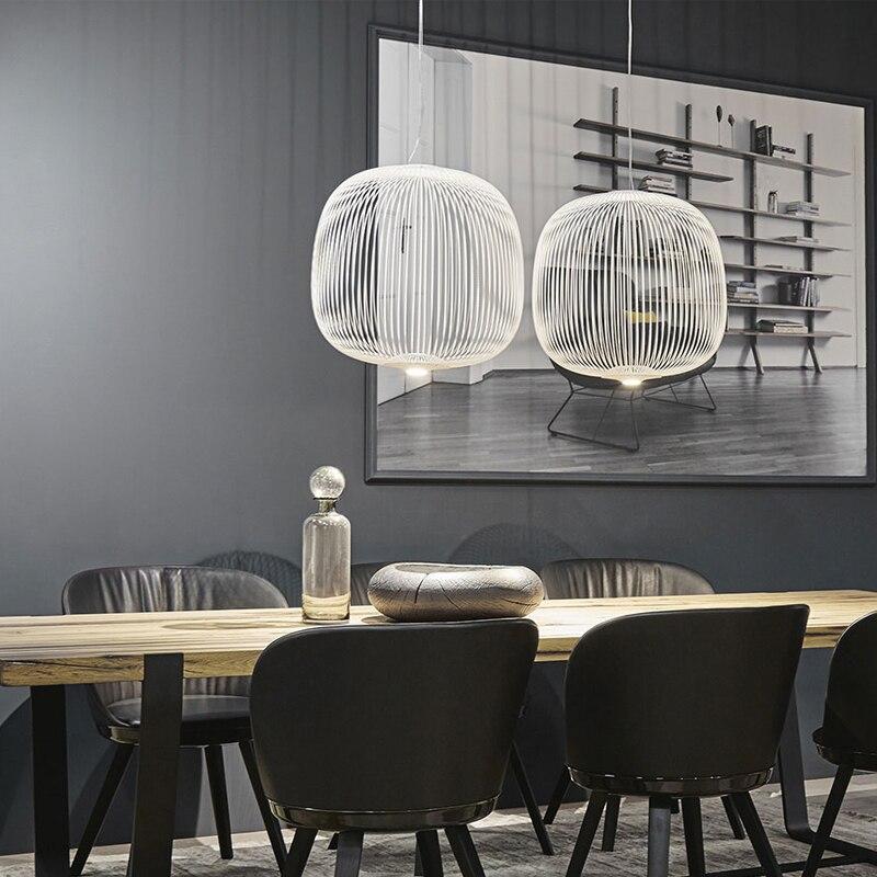 Raios 1/2 luzes Pingente Foscarini Modern LED Hanglamp LOFT Industrial Gaiola de Pássaro lustre Suspensão Luminárias Sala De Jantar Decoração - 6