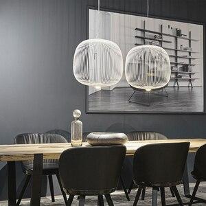 Image 5 - Remote Foscarini Spokes 1/2 Pendant Lights Modern LED Hanglamp LOFT Industrial Bird Cage lustre Suspension Fixtures Dining Decor