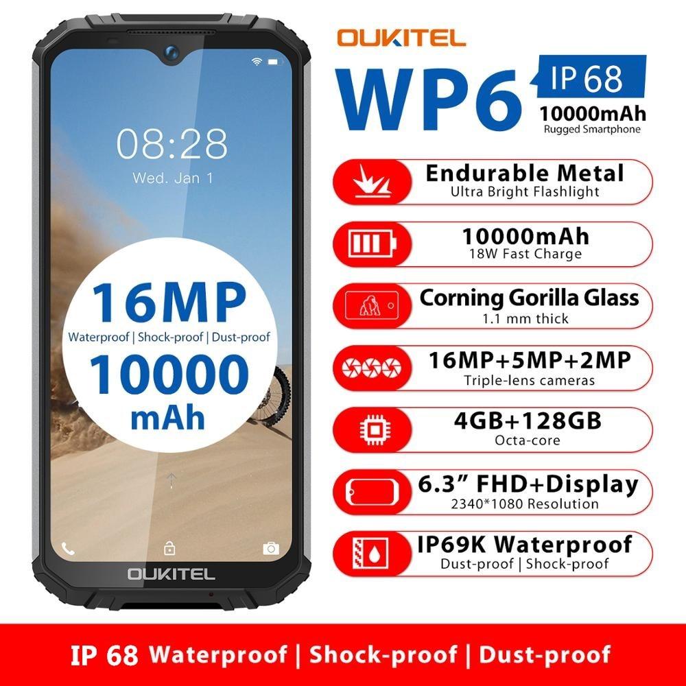 OUKITEL WP6 10000 мА/ч, 4 Гб 128 6,3