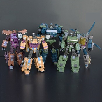 Large 5in1 Robot G1 Transformers Bruticus Model WK War Chariot Action Figure Collections 2