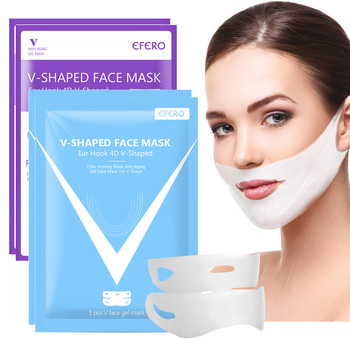 efero firming v face mask double v face hanging ear face paste hydrogel mask lifting firming thin masseter band double chin mask V Line Lifting Face Mask Thin Double Chin Reducer V Shaper Face Mask Slimming Firming Bandage Mask Moisturizing Skin Care EFERO