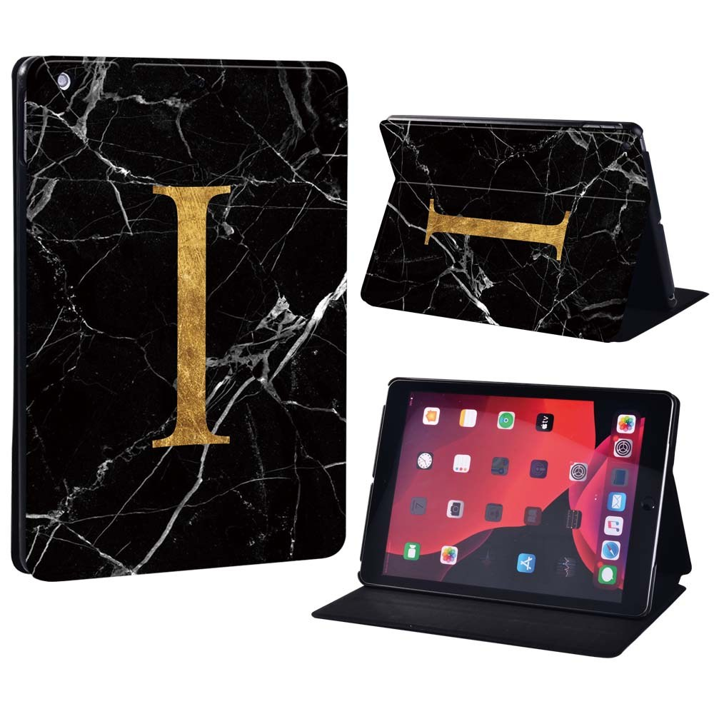 letter I on black Pink For Apple iPad 8 10 2 2020 8th 8 Generation A2428 A2429 Printing initia letters PU