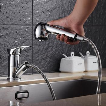 Bathroom Faucets Single Handle Pull Out Bathroom Tap Two modes Multifunctional 360 Degree Water Mixer Tap Mixer Tap