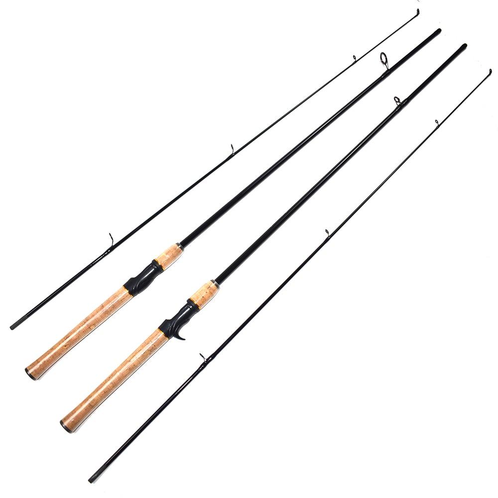Portable Ultralight Baitcasting Fishing Rods Carbon Spinning Fishing Rod Spinning Casting Fishing Rods 1.8M M Action herramientas para el aseo de la casa