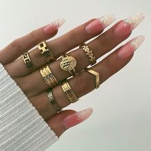 Vintage rings for women rings set gold ring Wedding Bands stainless steel rings flowers Bohemia ring set for women jewelry
