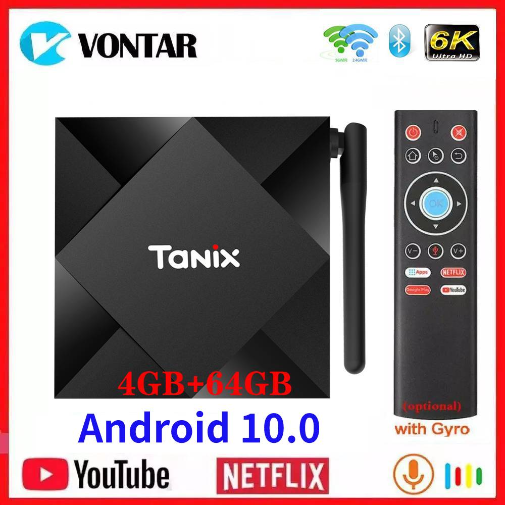 Allwinner H616 4GB RAM 64GB ROM Android 10 TV Box Tanix TX6S Android 10.0 QuadCore 6K Dual Wifi TX6 Media Player 1G/8G Youtube