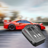 Car Radar Detector English Russian Auto 360 Degree Vehicle V9 Speed Voice Alert Alarm Warning 16 Band LED Display 5