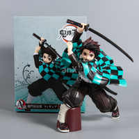 19 cm demônio slayer kamado tanjir figura de ação nezuko agatsuma zenitsu anime japonês pvc modelo brinquedos presente do miúdo