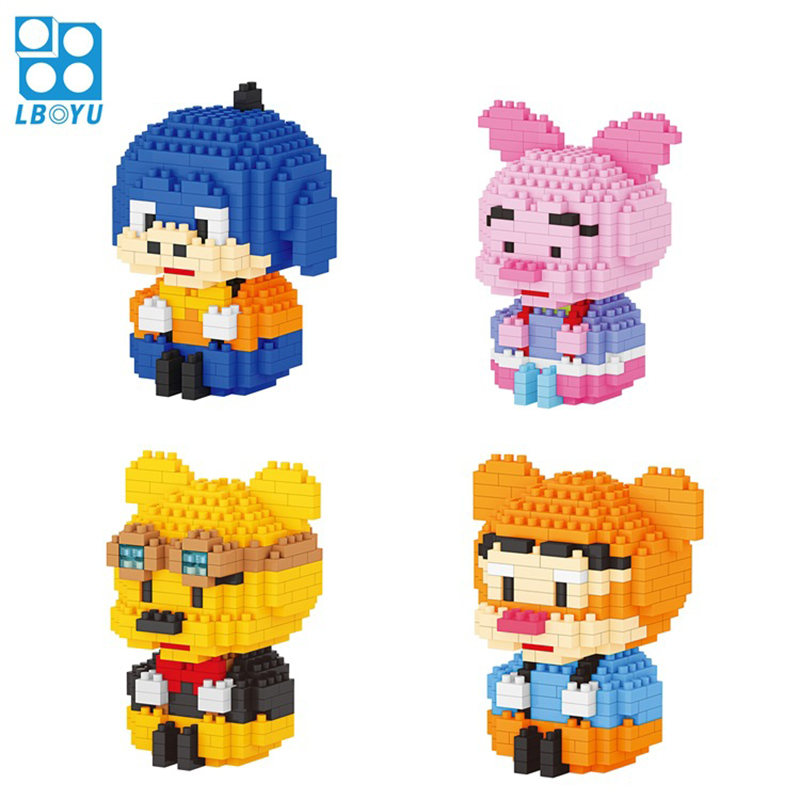 7114A Classic Cartoon Winnie Bear And Friends Image Micro Diamond Building Block Piglet Tigger Eeyore Nanobricks Toys