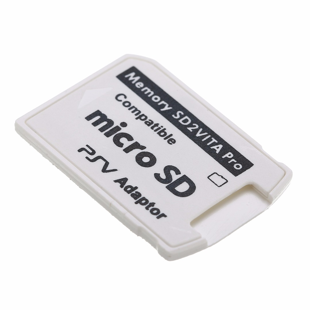 1PC White V5.0 SD2VITA PSVSD Pro Adapter For PS Vita Henkaku 3.60 Micro SD Memory Card