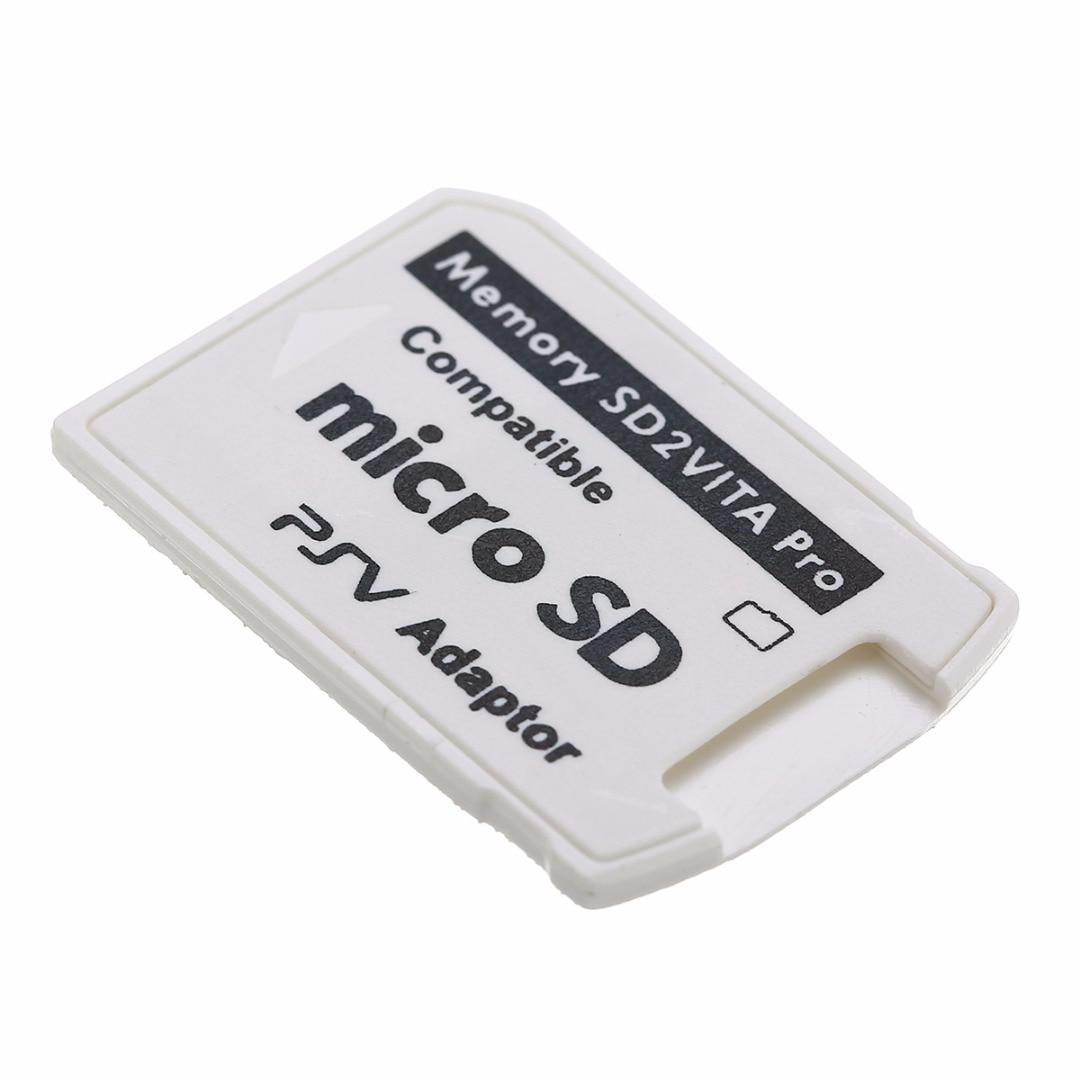 1PC White V5.0 SD2VITA PSVSD Pro Adapter For PS Vita Henkaku 3.60 Micro SD Memory Card