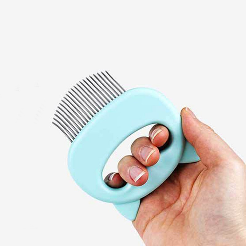 Cat Grooming Massage Brush with Shell Shaped Handle to Repair Withered and Yellow Hair of Cat 5