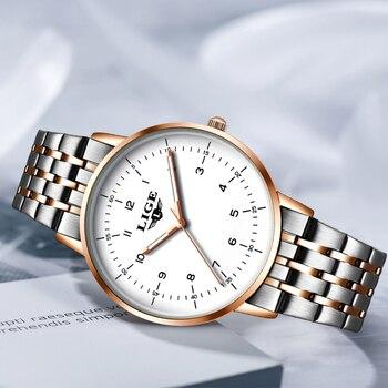 2020 New Fashion Watch Women LIGE Brand Ladies Creative Steel Women Bracelet Watches Female Waterproof Clocks Relogio Feminino