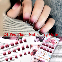 24 Pcs Fashion Women Nail Art Tips Clear/ Natural False
