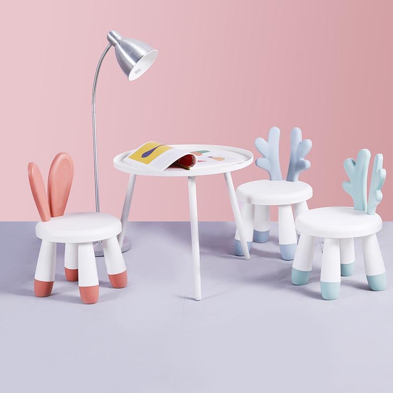 Small Stool Household Fashion Backrest Economic Chair Plastic Creative Stool Children's Stool Cartoon Stool