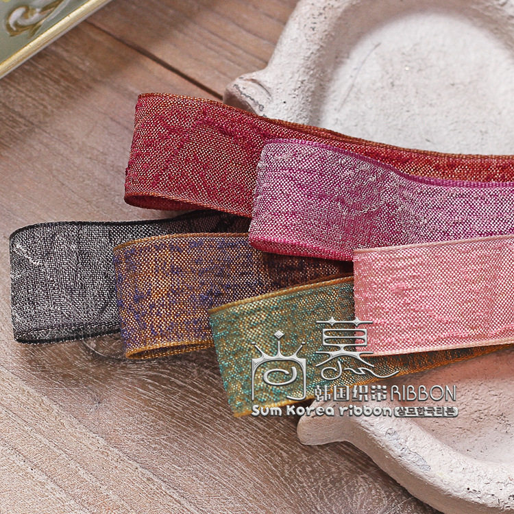 100yards 25mm 38mm mixed colors wrinkle flax ribobn for hair bow diy accessories craft supplies home textile decoration in Ribbons from Home Garden