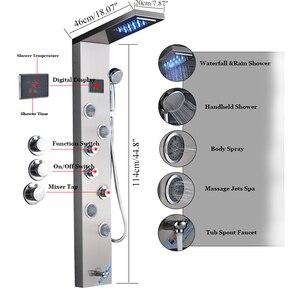 Image 2 - ULGKSD colonne de mélange, cascade LED panneau de douche de pluie, salle de bains, douche robinet Jets de Massage, baignoire douche, robinet Para maison et Bar