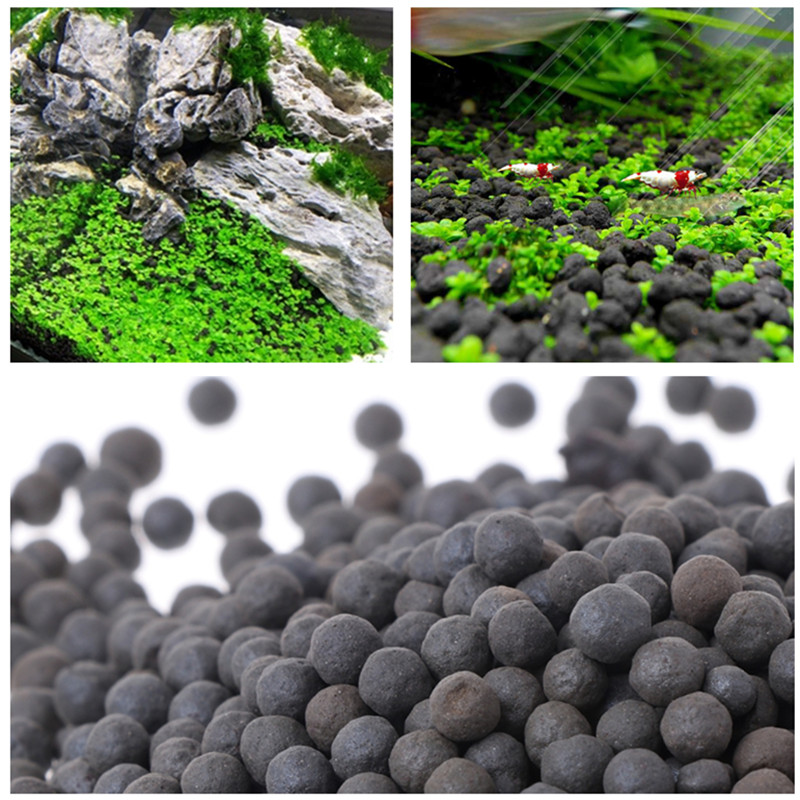 Fish Tank Water Plant Fertility Substrate Aquarium Plant Soil Substrate Gravel For Fish Tank Grass Weed Landscaping Decoration