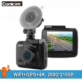 Conkim Dash Cam Camera GPS Wifi DVR Car Camcorder 4K 2880x2160P Night Vision Novatek 96660 2.4 Auto Registrar Car Black Box H40 image