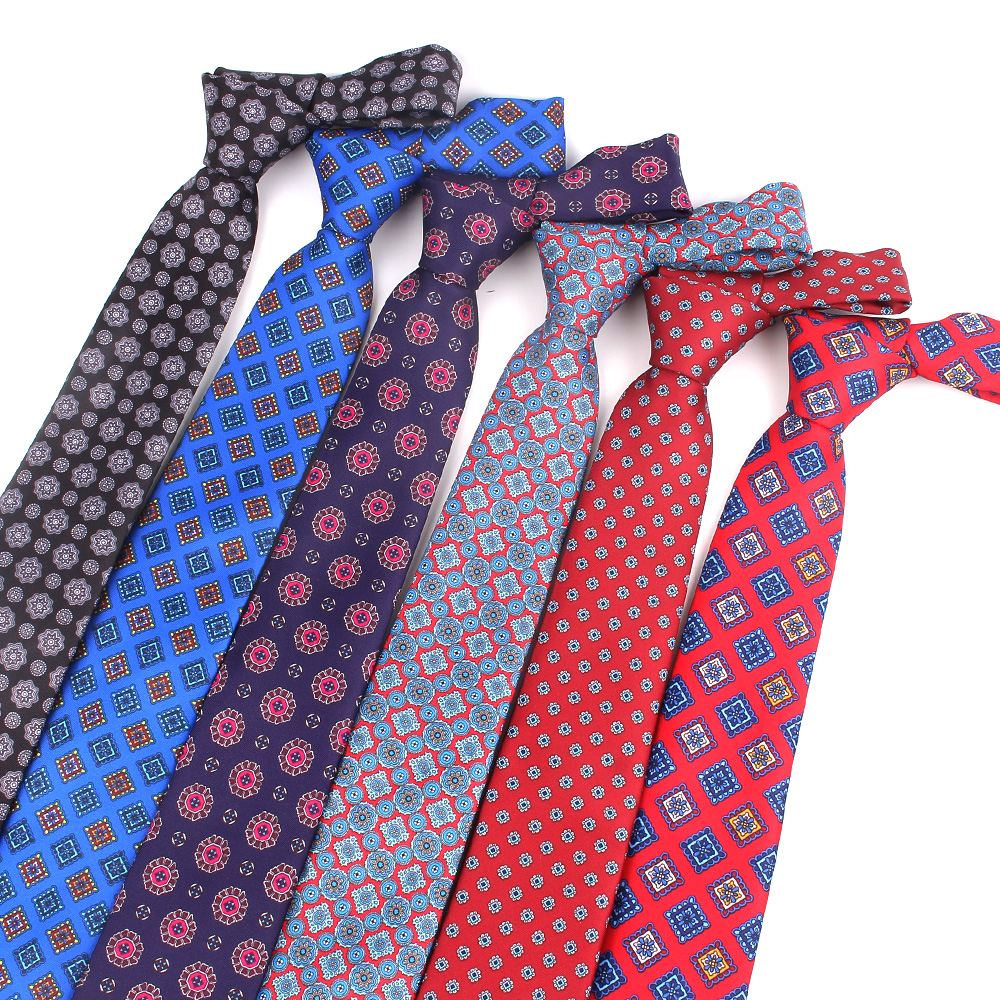 New Floral Ties Fashion Striped Print Neck Tie For Wedding Business Suits Paisley Skinny Tie For Men Women Man Necktie Gravatas