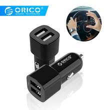 ORICO Dual Port USB Car Charger Adapter 5V2.4A 17W Mini Charger Cigar Socket For iPhone 7 Samsung Galaxy S6 Edge Xiaomi(China)