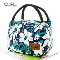 Winmax aislado bolsas térmicas para el almuerzo Floral bolsas refrigerador Picnic comida bolsa de almuerzo para niños las mujeres las niñas damas hombres bolsa de hielo