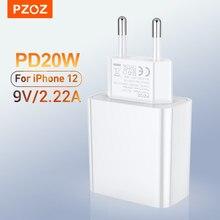 Chargeur rapide Usb C PZOZ 20W PD pour iphone 12 Pro MAX 12 Mini 11 Xs PD chargeur pour AirPods Max iPad air 4 2020 IPAD pro