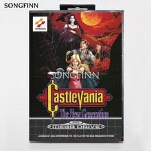 16 бит MD карта памяти с коробкой для Sega Mega Drive для Genesis Megadrive   Castlevania новое поколение Cover1