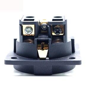 Image 5 - 1 pz Hifi Audio AMp rodio oro neutro FI E30 AC 250V 16A EU Euro Schuko 2 pin IEC ingresso spina di alimentazione presa telaio
