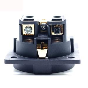 Image 5 - 1pcs Hifi 오디오 앰프 로듐 골드 중립 FI E30 AC 250V 16A EU 유로 Schuko 2 핀 IEC 입구 전원 플러그 섀시 소켓