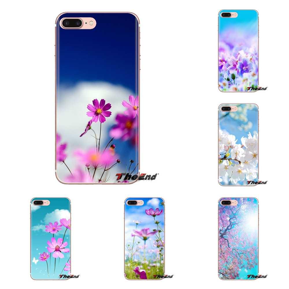 Pink Flower Blue Sky Hd Wallpaper For Samsung Galaxy J1 J2 J3 J4 J5 J6 J7 J8 Plus 2018 Prime 2015 2016 2017 Silicone Cases Cover Aliexpress