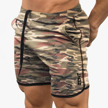 Summer New Camouflage Color Breathable Fitness Muscle Brothers Sports Shorts Running Quick-drying Pants Tight Sports Leisure