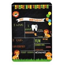 Милый маленький Медвежонок мелкая Доска стиль ребенок день рождения Запись знак-украшение 8 ''x 12'' Прямая поставка