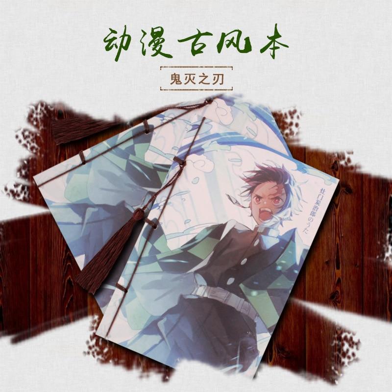 Japanese Anime JoJo's Bizarre Adventure Demon Slayer: Kimetsu No Yaiba Notebook Fifth Personality Jojo Comic Students Gifts