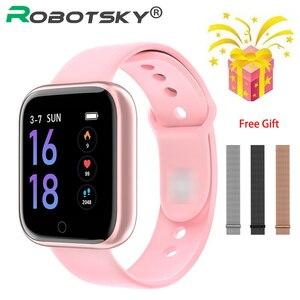 Image 1 - Smart watch Women Men Sports Fashion IP68 Waterproof Activity Fitness Tracker Heart Rate BRIM Smartwatch VS P68 P70 Bracelet