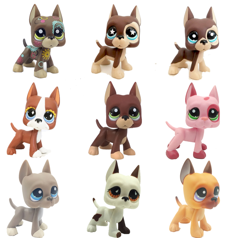 25 Style Pet Shop Toys Dog Collection Real Littlest Short Hair Cat 2291 Cocker Spaniel Great Dane #817 Dachshund Child Gifts