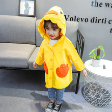 Осенняя ветровка для маленьких мальчиков и девочек; ветрозащитное пальто с персонажами; верхняя одежда; повседневная одежда; куртка с длинными рукавами и пуговицами; пальто