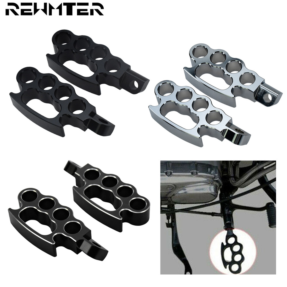 Motorcycle Universal Flying Knuckle Footpegs Footrests Custom Pedal Control Foot Pegs For Harley Dyna Softail Sportster XL