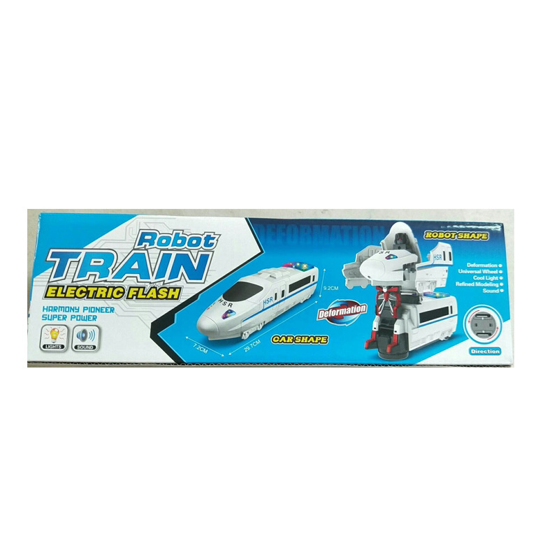 Baby Electric Universal Car Children Music Shining Transformer Toy Car Train Model Car Model