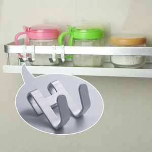 Image 2 - Espaço de alumínio metal porta gancho rack livre prego parede gancho titular chave toalha cabide roupas prateleiras do banheiro organizador