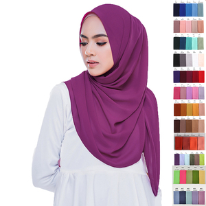 Image 3 - 10 pcs/lot Wholesale Chiffon Scarf Shawls Two Face Hijab Muslim scarves/scarf 47 Colors 180*75cm