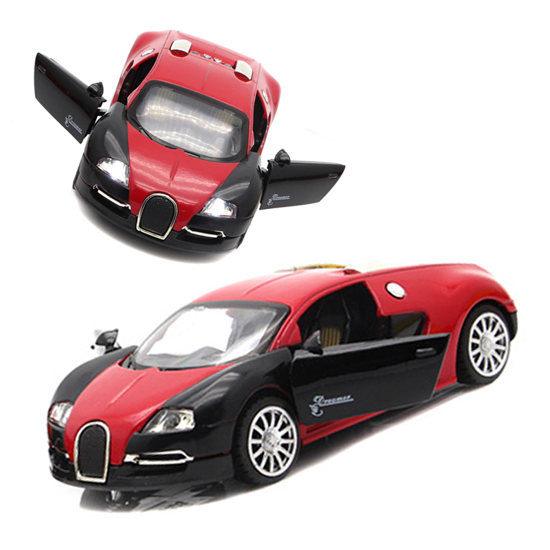 Diecast Bugatti Veyron Modles Alloy Car Models Toys Collection Pull Back Children Toys Home Decoration Gifts